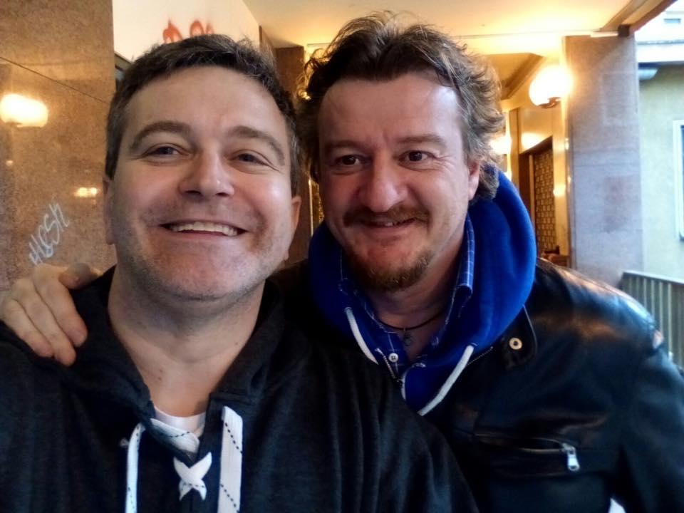 Claudio Galleani (a sinistra) con Andrea Badoglio